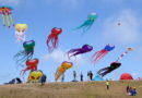 People, kites, smiles