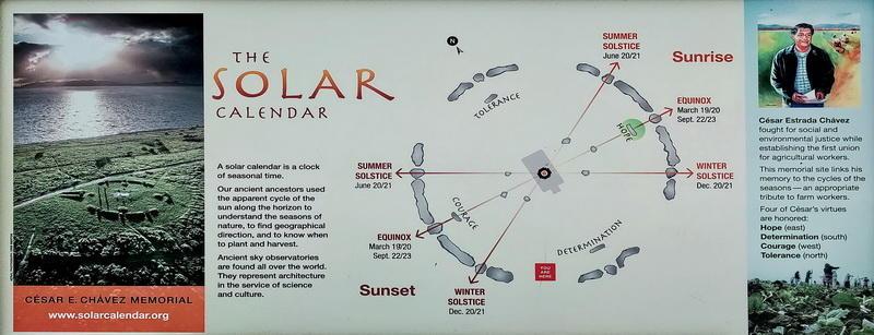 Cesar Chavez Memorial Solar Calendar