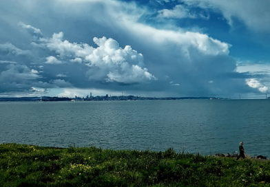 Dramatic Clouds Over the Bay