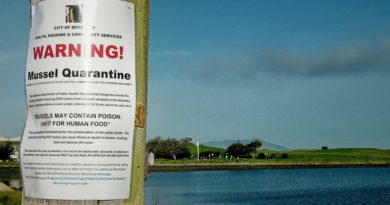 Mussel Quarantine Posted