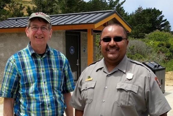 Ken Earlywine with Richard De La O, National Park Service Accessibility Program Manager