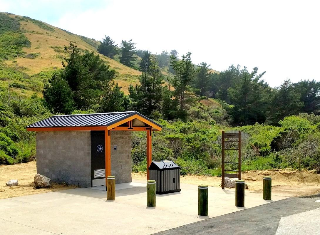 The new GreenFlush restroom at Mori Point Park in Pacifica