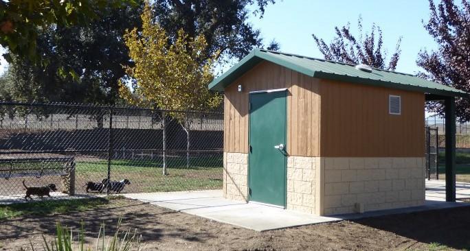 An economical and decent park restroom