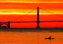 Kayaker at Sunset January 1 2013