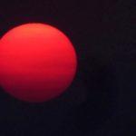 Sun Through Smoke From North Bay Firestorm Oct 9 2017