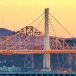 View South of New and Old Oakland Bay Bridge 9-27-2013